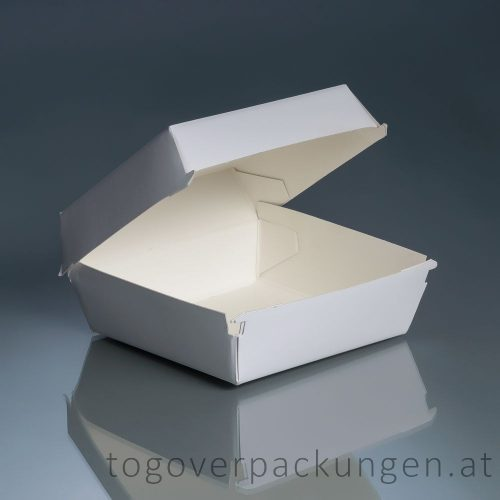 Burgerbox mit Klappdeckel - gross H3  /50 Stück