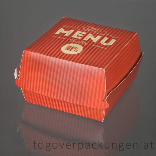Burgerbox mit Klappdeckel M  /50 Stück