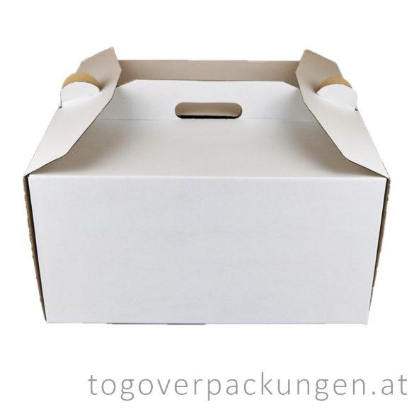 Tortenkarton mit Griff, 260 x 260 x 180 mm / 40 Stück