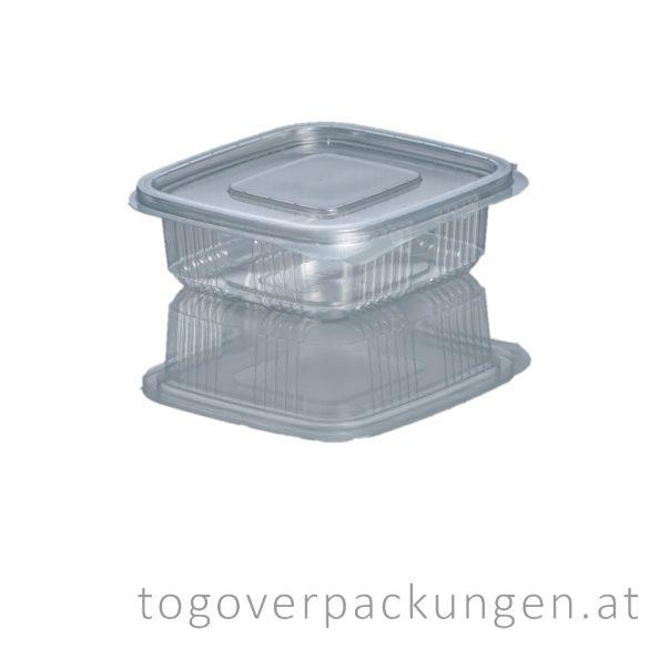 Verpackungsbox mit Klappdeckel, eckig, 250 ml / 100 Stück