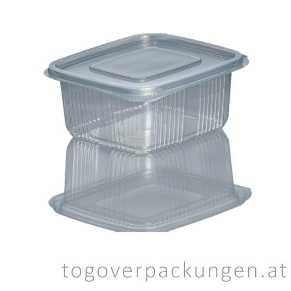 Verpackungsbox  mit Klappdeckel, eckig, 500 ml / 100 Stück