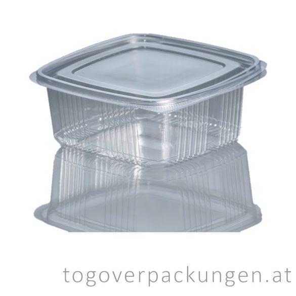 Verpackungsbox mit Klappdeckel, eckig, 1000 ml / 100 Stück