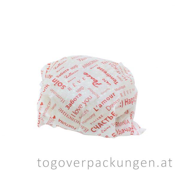 """Burgerpapier """"Fiesta"""", 300 x 300 mm / 1000 Stück"""