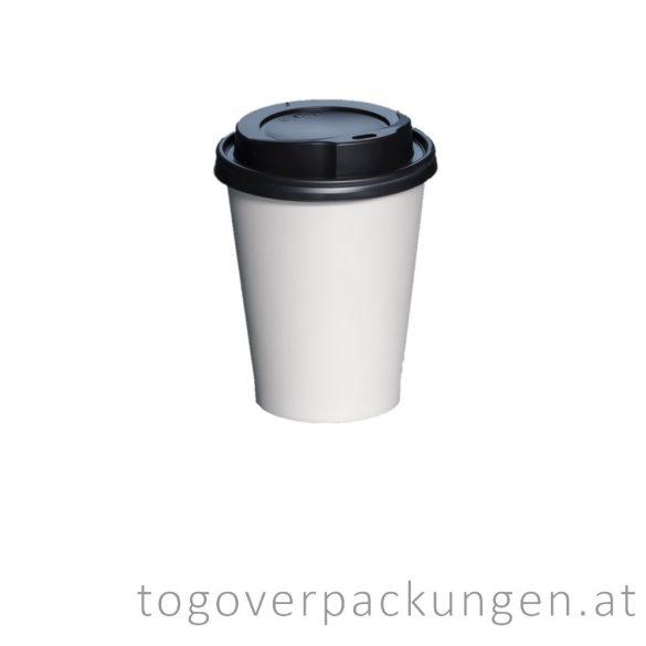Deckel für 220 ml Pappbecher, schwarz / 100 Stück