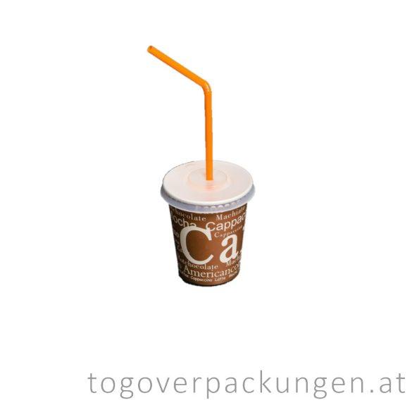 Flachdeckel für 220 ml Pappbecher, mit Kreuzschlitz / 100 Stück