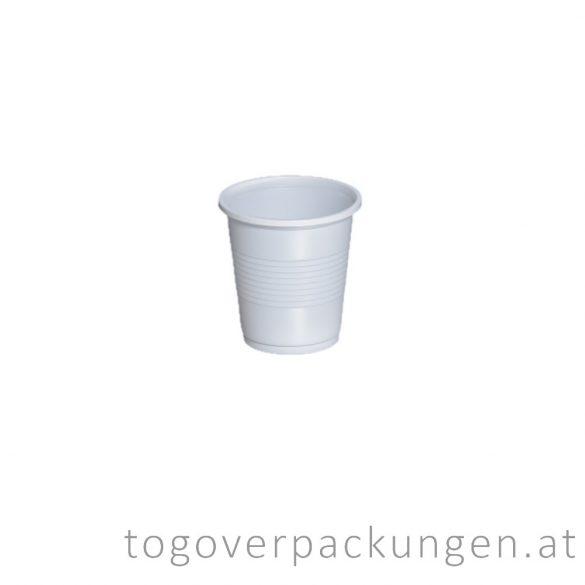 Plastikbecher, 100 ml, weiß / 100 Stück