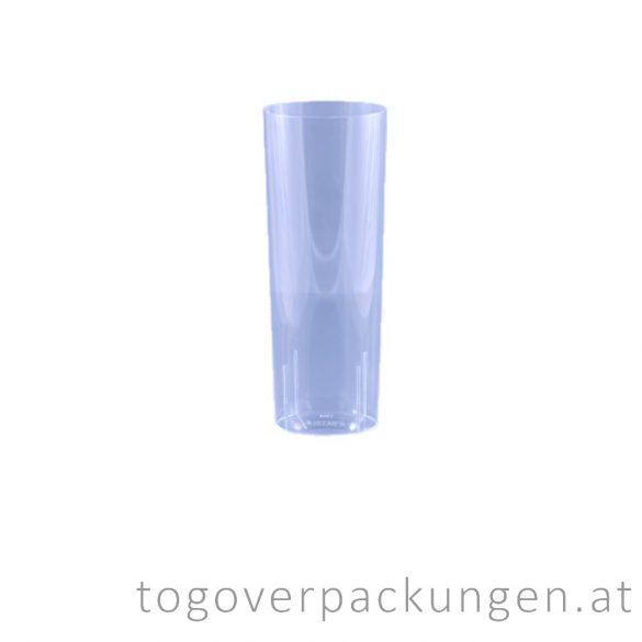 Plastikbecher - Longdrink, 300 ml, transparent / 10 Stück