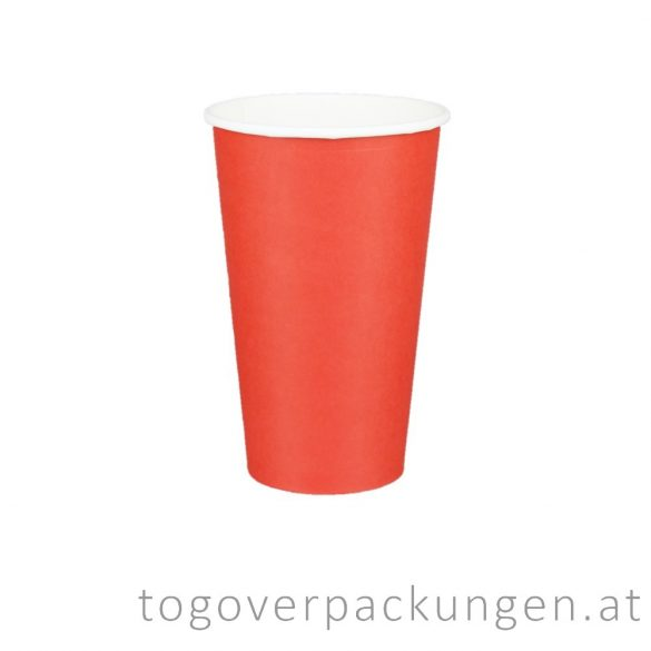"Pappbecher ""Red"", 450 ml / 50 Stück"