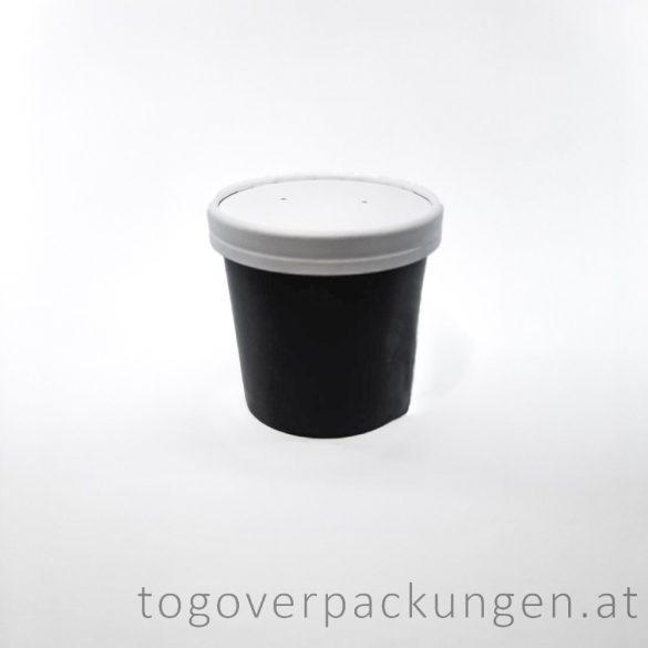 """Pappdeckel für 300 ml  """"Soup-To-Go"""" Suppenbecher, weiß / 25 Stück"""
