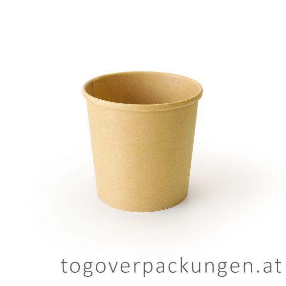 """Soup-To-Go"" Suppenbecher, 300 ml, braun-weiß / 50 Stück"