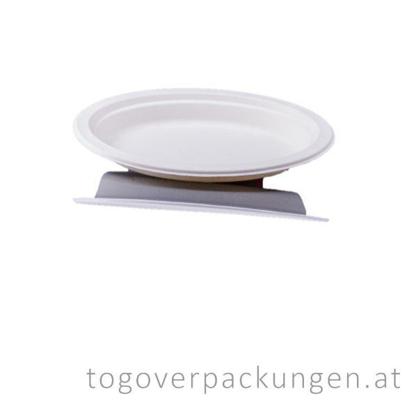 Kompostierbar Zuckerrohr Teller, 230 mm / 50 Stück
