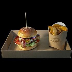Burgerbox und Pommestüten