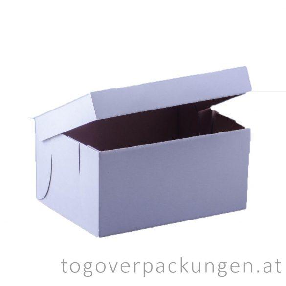 Kuchenbox, 240 x 180 x 120 mm, weiß / 1 Stück