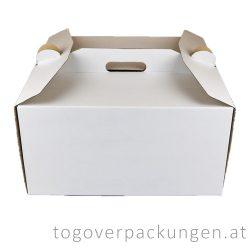 Tortenkarton mit Griff, 260 x 260 x 160 mm / 40 Stück