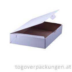 Tortenkarton / Kuchenbox, 400 x 300 x 80 mm, weiß / 1 Stück