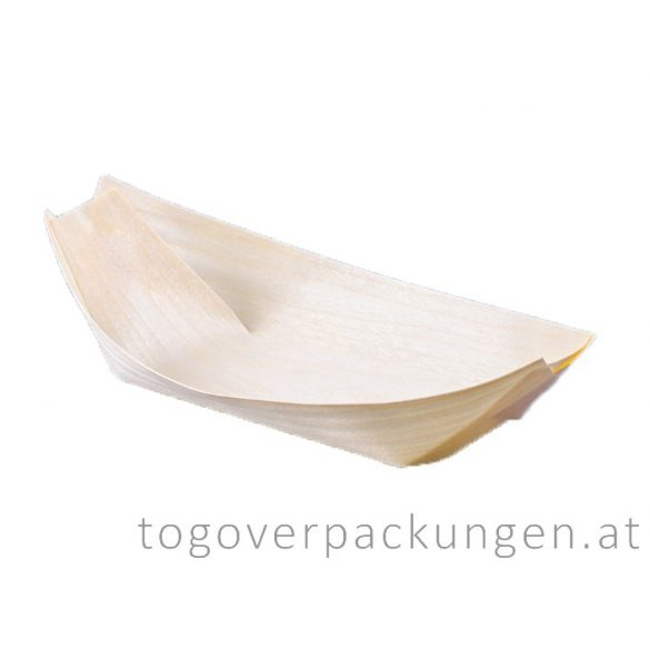 Schale - Bambus-Schiff, 170 mm / 100 Stück