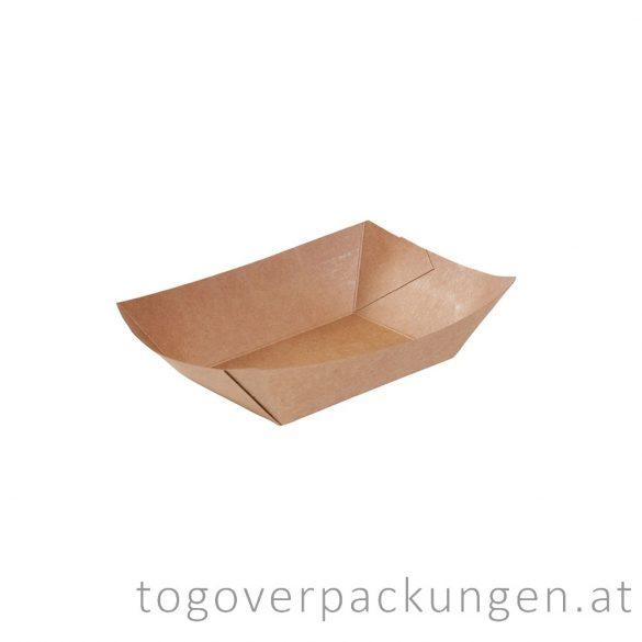Schale - Kraftpapier-Schiff, 110 x 65 x 40 mm / 100 Stück