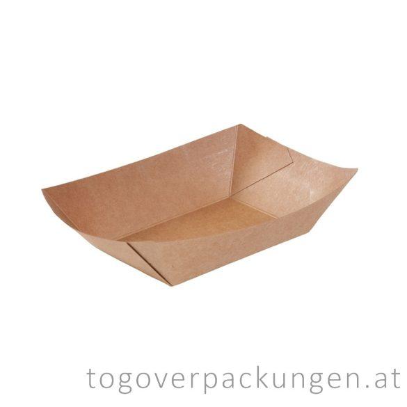 Schale - Kraftpapier-Schiff, 155 x 65 x 40 mm / 100 Stück