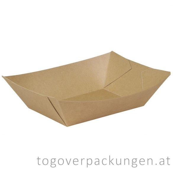 Schale - Kraftpapier-Schiff, 215 x 147 x 40 mm, 800 ml / 250 Stück