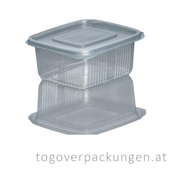 Verpackungsbox mit Klappdeckel, eckig, 500 ml / 75 Stück