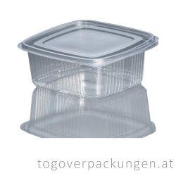 Verpackungsbox mit Klappdeckel, eckig, 1000 ml / 75 Stück