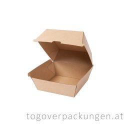 Hamburgerbox, 110 x 110 x 90 mm, Kraft / 50 Stück