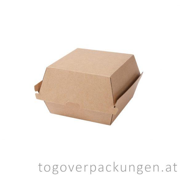 Hamburgerbox, 130 x 130 x 110 mm, Kraft / 50 Stück