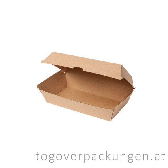 Hamburgerbox - geteilt, Kraft / 100 Stück
