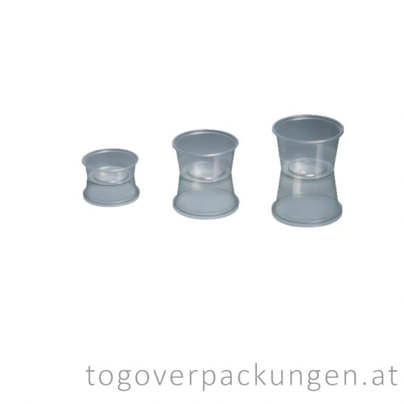 Hagner runde Plastikbox, 150 ml / 100 Stück