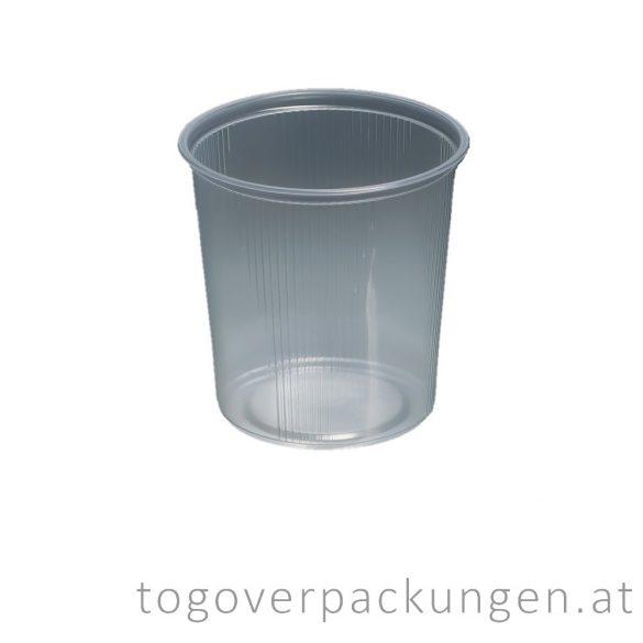 Hagner runde Plastikbox, 500 ml /100 Stück