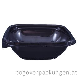 Verpackungsbox - quadratisch, 120 x 120 mm, 250 ml, schwarz / 50 Stück