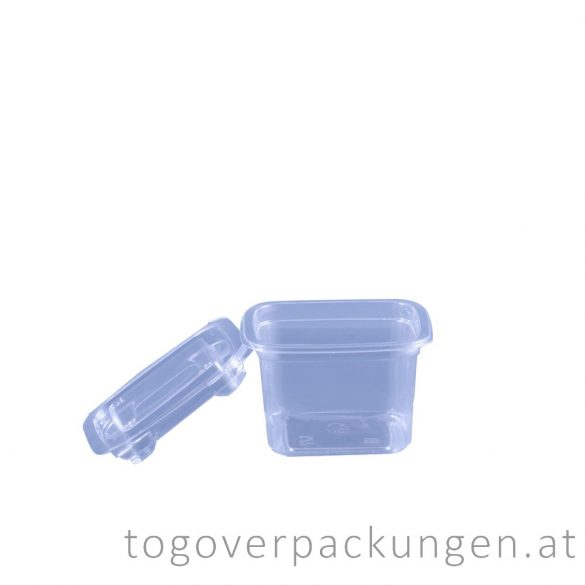 Verpackungsbox - quadratisch, 90 x 90 mm, 300 ml, transparent / 50 Stück