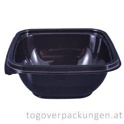 Verpackungsbox - quadratisch, 120 x 120 mm, 375 ml, schwarz / 50 Stück