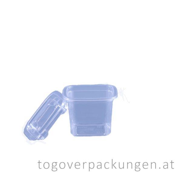 Verpackungsbox - quadratisch, 90 x 90 mm, 400 ml, transparent / 50 Stück