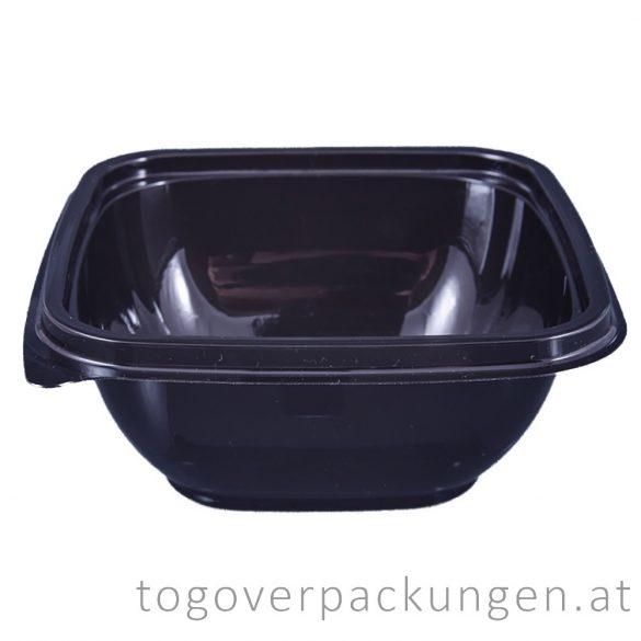 Verpackungsbox - quadratisch, 120 x 120 mm, 500 ml, schwarz / 50 Stück