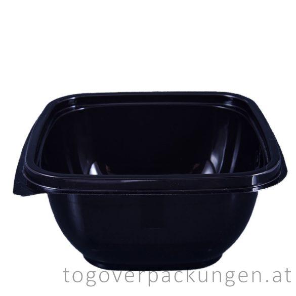 Verpackungsbox - quadratisch, 190 x 190 mm, 750 ml, schwarz / 70 Stück
