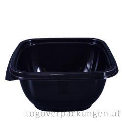 Verpackungsbox - quadratisch, 190 x 190 mm, 1000 ml, schwarz / 70 Stück