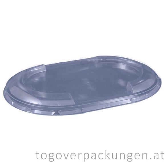 Deckel für Verpackungsbox - oval, transparent / 75 Stück