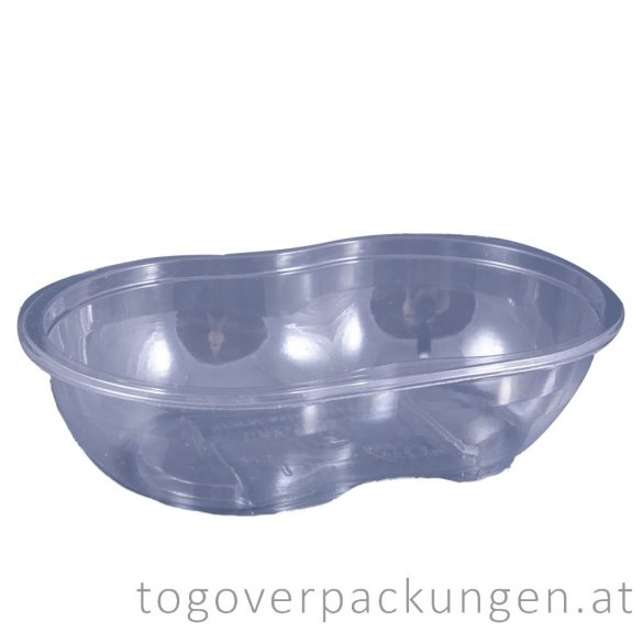 Verpackungsbox - oval, 375 ml, transparent / 90 Stück