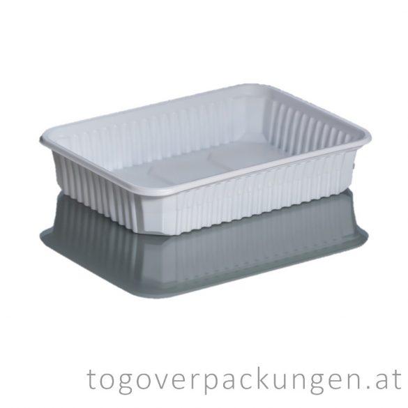 Verpackungsbox - eckig, 500 ml, PP, weiß / 50 Stück