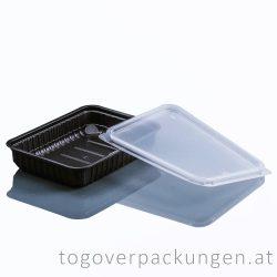Verpackungsbox - eckig, 500 ml, PP, schwarz / 50 Stück