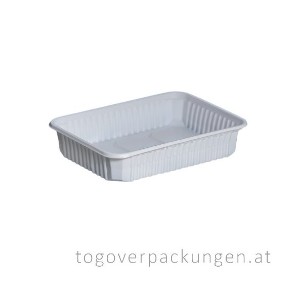 STRONG Verpackungsbox - eckig, 500 ml, PP, weiß / 50 Stück