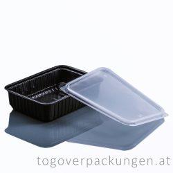 Verpackungsbox - eckig, 750 ml, PP, schwarz / 50 Stück