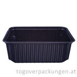 EXTRA STARK Verpackungsbox - eckig, 750 ml, PP, schwarz / 50 Stück