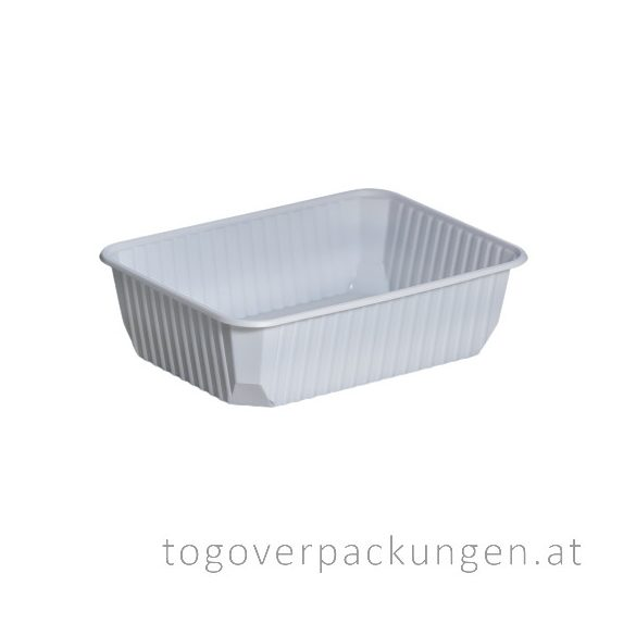 STRONG Verpackungsbox - eckig, 750 ml, PP, weiß / 50 Stück