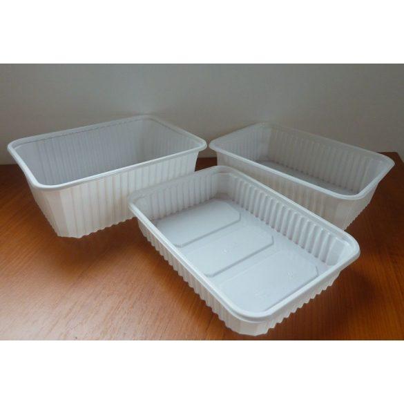Verpackungsbox - eckig, 1000 ml, PP, weiß / 50 Stück