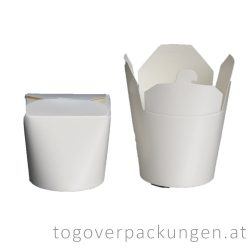 Nudelbox - weiß, 500 ml / 16 oz / 50 Stück