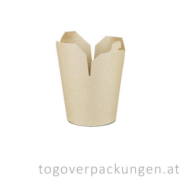 Nudelbox - Kraft, 500 ml / 16 oz / 50 Stück