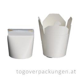 Nudelbox - weiß, 750 ml / 16 oz / 50 Stück