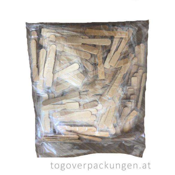 Eislöffel aus Holz, 96 mm - einzeln verpakt / 250 Stück